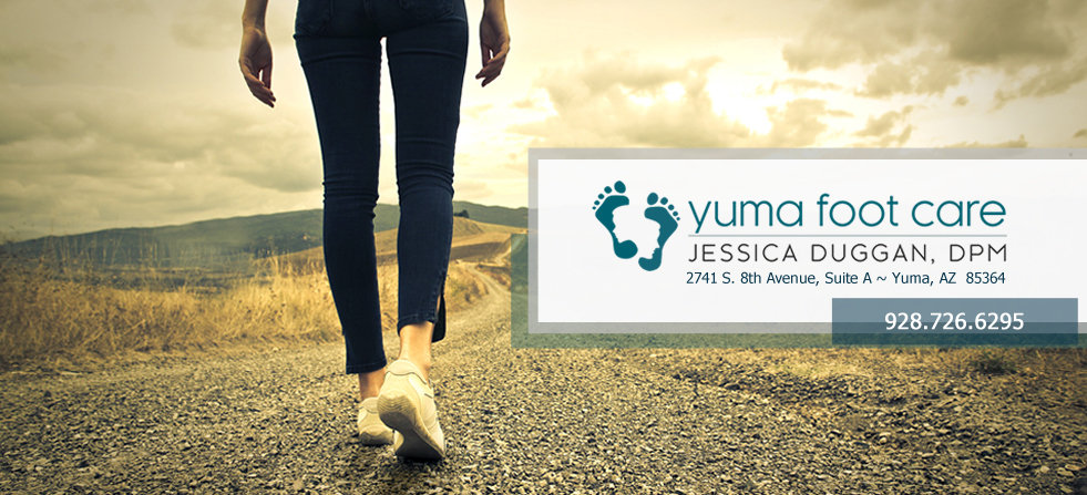 Yuma Foot Care | Jessica Duggan, DPM. 1743 West 24th Street, Yuma, Arizona 85364. 928-726-6295